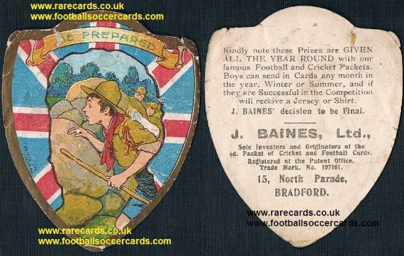 1900s Scouting Baden Powell Scout Movement Guides Be Prepared Baines trade card